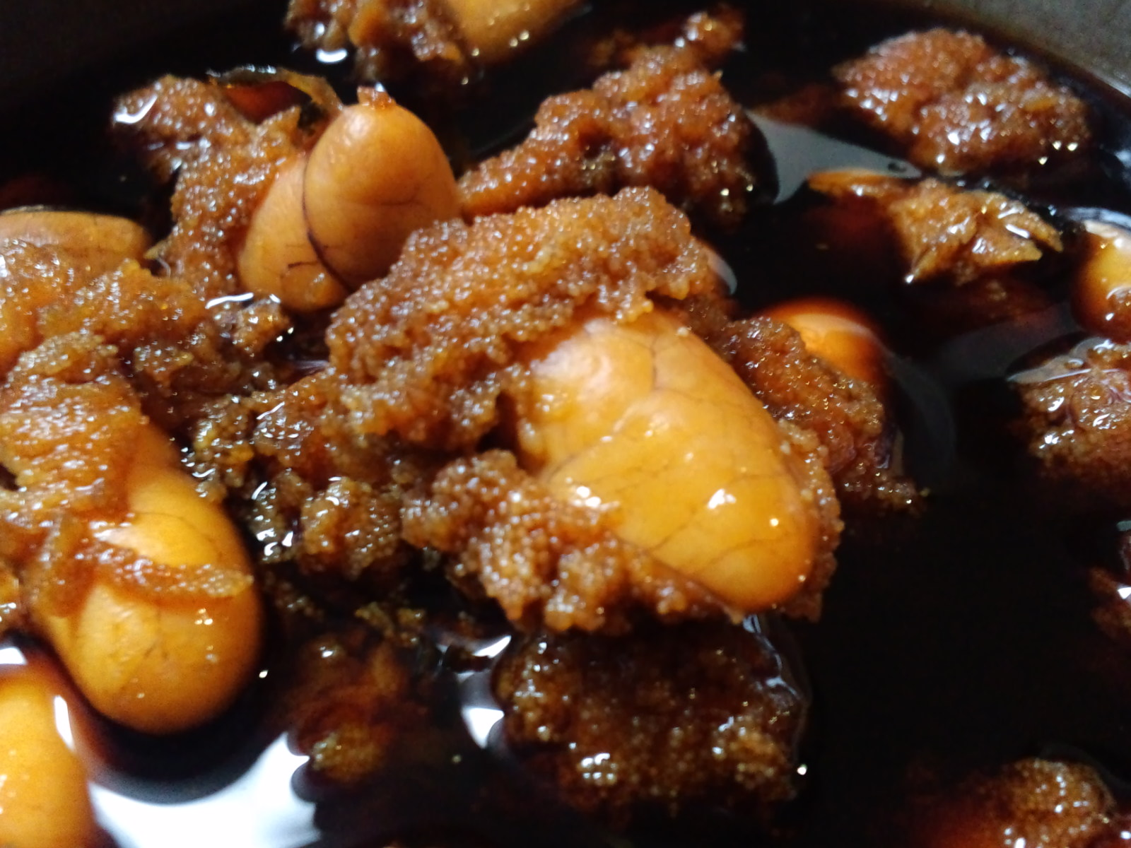 A recipe: Boiled and seasoned cod roe.