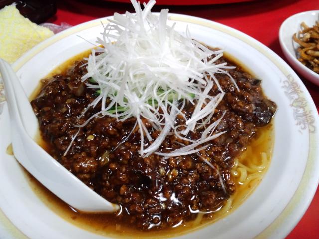 Enjoying Chinese dishes...
